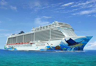 The Norwegian Escape Rendering courtesy of Norwegian Cruise Line.