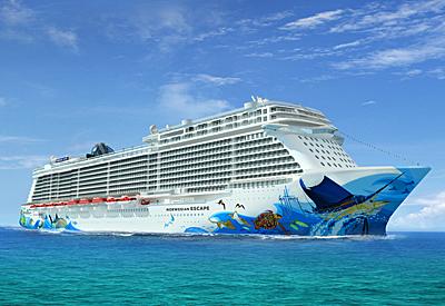 The Norwegian Escape Rendering courtesy of Norwegian Cruise Line.