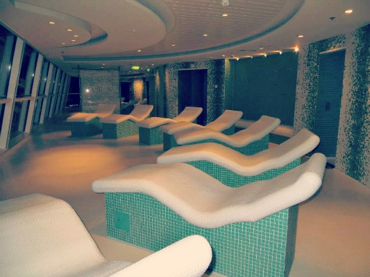 Persian garden spa on the Celebrity Reflection.