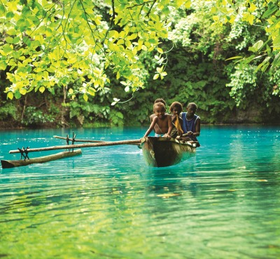 Blue Hole in Vanuatu. Photo courtesy of Silversea Cruises.