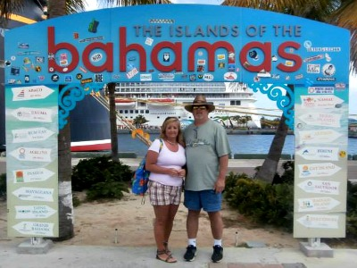 Kim and Dave in Nassau, Bahamas