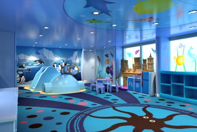 Camp Ocean Penguins Space. Rendering courtesy of Carnival Cruise Lines.