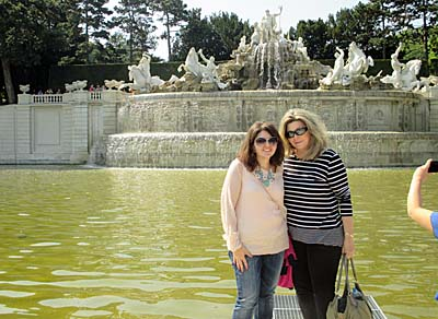 A picture outside the Schonbrunn Palace in Vienna.