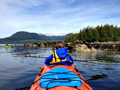 Kayaking in Alaska with amazing views