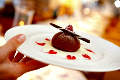 Chocolate Dessert. Photo courtesy of Crystal Cruises.