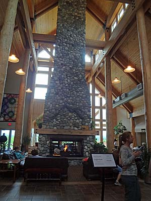 Fireplace in the Talkeetna Alaskan Lodge
