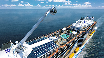 The North Star is a key feature of the Quantum of the Seas. Photo courtesy of Royal Caribbean.