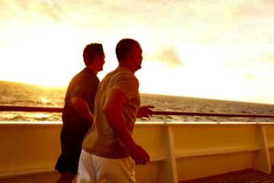 Running. Photo courtesy of Crystal Cruises.