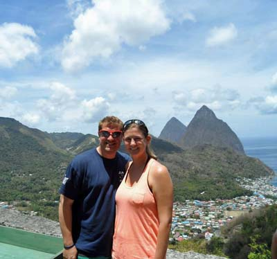 Touring the Pitons in St. Lucia