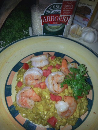 Curried Coconut Risotto with Shrimp