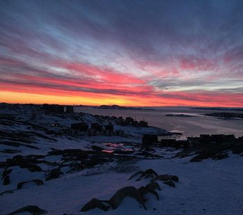 Sunset in Nuuk, Greenland