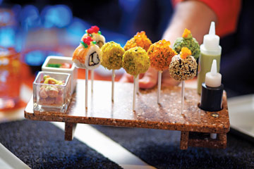 Celebrity Cruises Qsine Sushi Lollipops - Courtesy of Celebrity Cruises