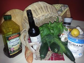 Fresh soup ingredients