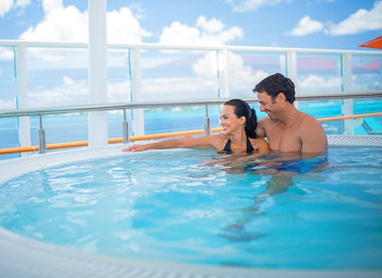 Couple in Hot Tub - Courtesy of Norwegian Cruise Line