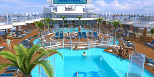 Regal Princess Fountain Pool Rendering