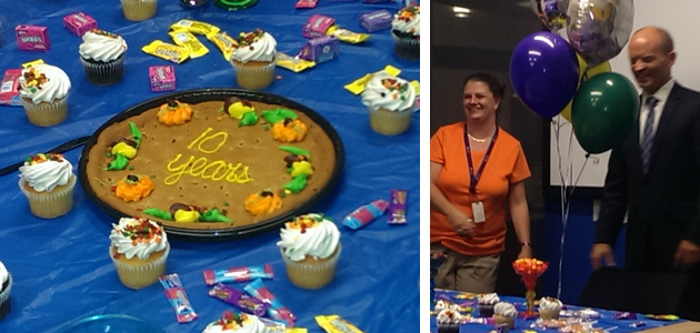 Surprise party for Ellicia Ayer's 10 Year Anniversary at The Cruise Web