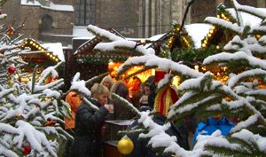 Snowy Christmas Market