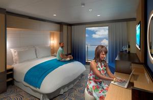 Virtual Balcony Interior Room - Rendering courtesy of Royal Caribbean