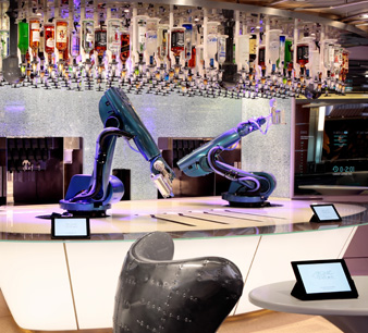 Bionic Bar aboard Quantum of the Seas - Courtesy of Royal Caribbean