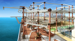 Norwegian Escape Ropes Course - Courtesy of Norwegian Cruise Line