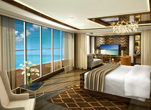 Seven Seas Explorer Master Bedroom - Courtesy of Regent Seven Seas Cruises