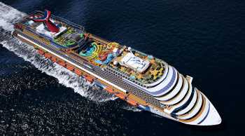 Carnival Vista Aerial View - Courtesy of Carnival Cruise Lines