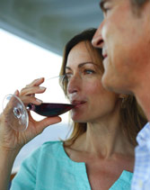 Wine on Balcony - Courtesy of Holland America Line