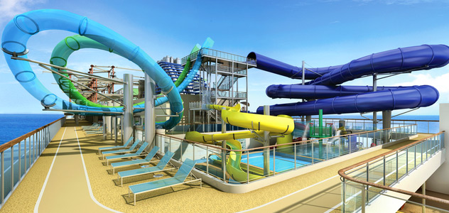 Water Slides - Courtesy of Norwegian Cruise Line