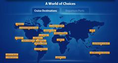 World Map on The Cruise Web