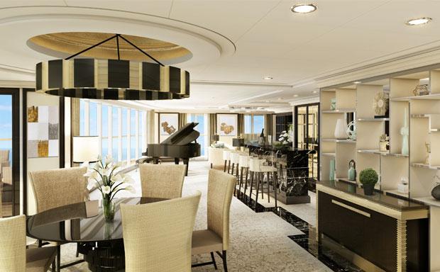 Seven Seas Explorer Suite Living Area