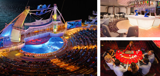 AquaTheater, Bionic Bar and Casino - Courtesy of Royal Caribbean