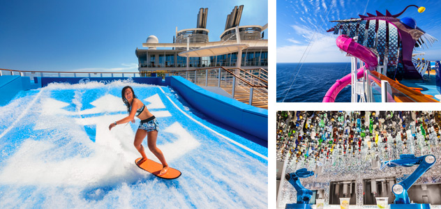 FlowRider, Ultimate Abyss and Bionic Bar - Courtesy of Royal Caribbean