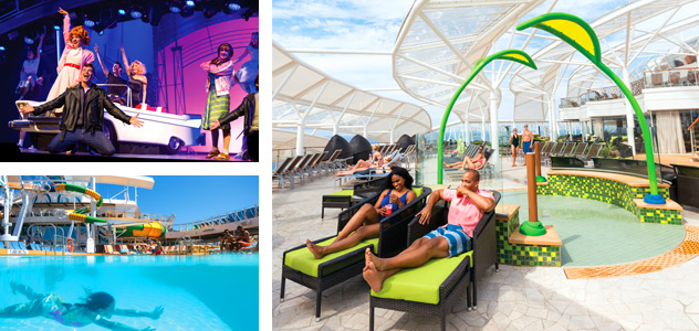 Grease, Pool and Solarium - Courtesy of Royal Caribbean