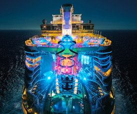 Harmony Of The Seas At Night Courtesy Royal Caribbean