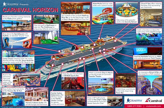 Infographic: Carnival Horizon Cruise Ship