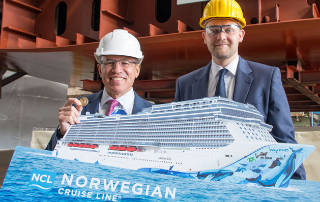 Norwegian Bliss - keel laying