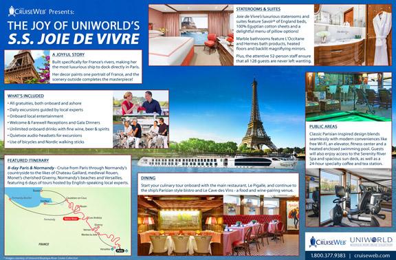 Infographic - Uniworld Joie de Vivre River Cruise Ships