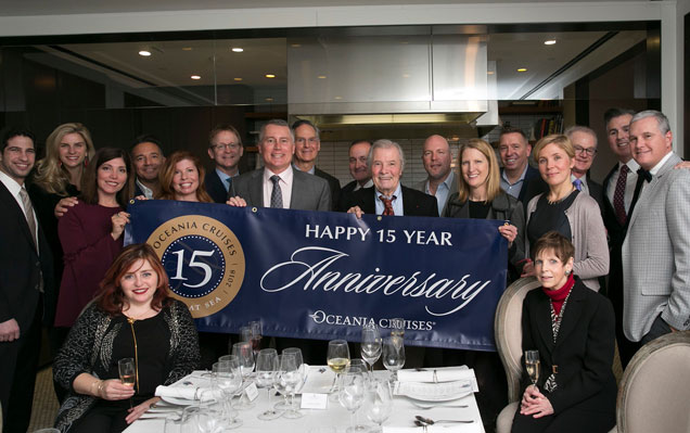 The Cruise Web's Vice President celebrated Oceania Cruises' 15 year anniversary