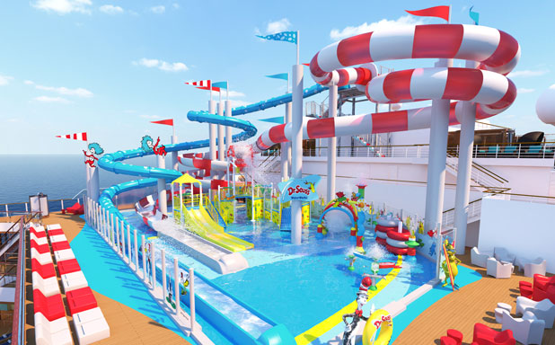 Dr Seuss Waterpark on Carnival Horizon