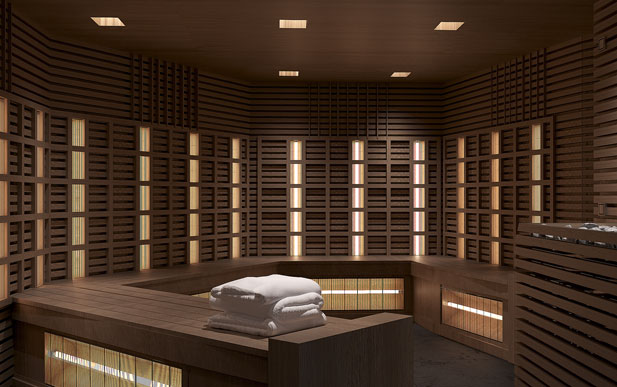 Infrared sauna in The Spa on Celebrity Edge