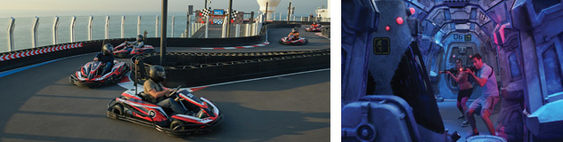 Race Track and Laser Tag