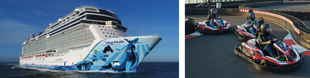 Norwegian Bliss Exterior and Race Track