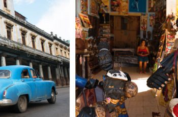 Classic Cars and Local Art in Cuba