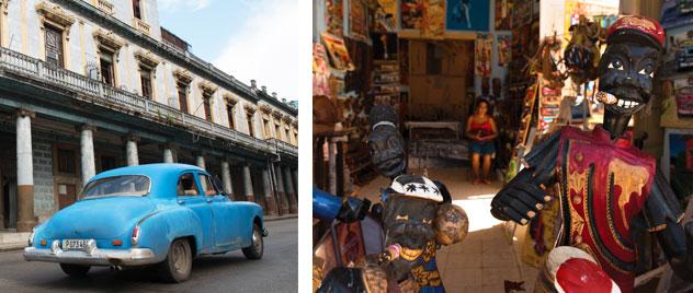 Classic Cars and Local Art in Cuba