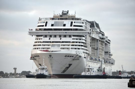 MSC Bellissima during construction - Courtesy of MSC Cruises