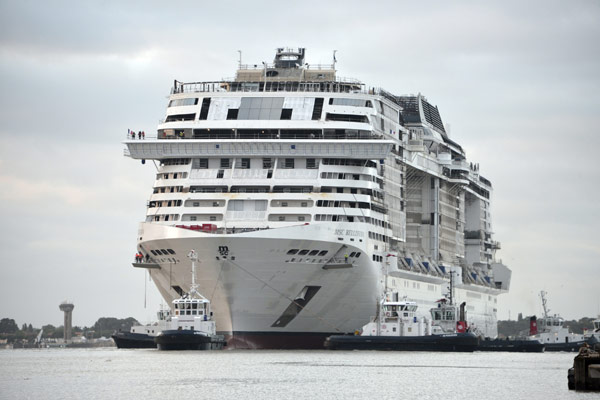 MSC Bellissima Cruise Ship Under Construction