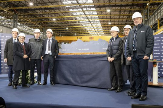 MSC Cruises steel cutting for MSC Seashore