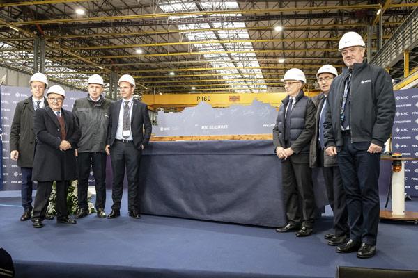 MSC Cruises steel cutting for MSC Seashore
