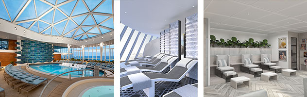 Solarium and Spa aboard Celebrity Edge