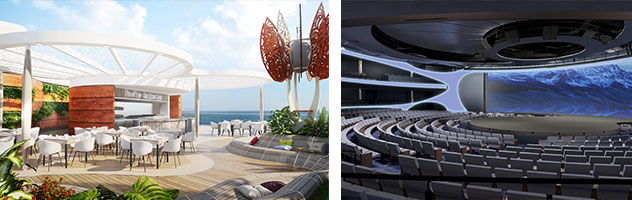 Rooftop Garden and Theater aboard Celebrity Edge